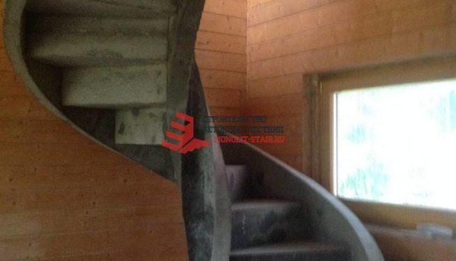 Фото монолитной лестницы из бетона