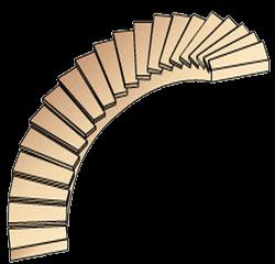 Криволинейная дуговая лестница