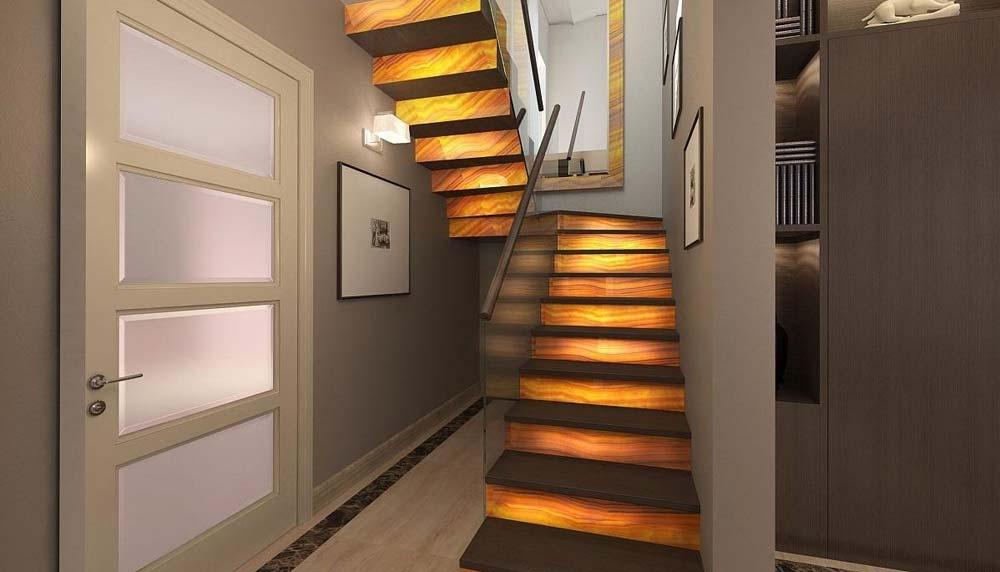 П-образная монолитная бетонная лестница